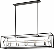 Z-Lite 457-10L-CH-MB Euclid Modern Chrome / Matte Black Island Lighting