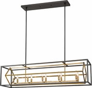 Z-Lite 457-10L-OBR-BRZ Euclid Contemporary Olde Brass / Bronze Kitchen Island Lighting
