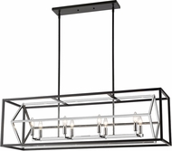 Z-Lite 457-8L-CH-MB Euclid Modern Chrome / Matte Black Kitchen Island Light