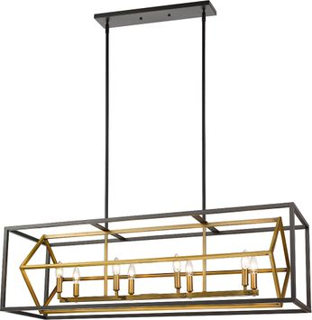 Z-Lite 457-8L-OBR-BRZ Euclid Contemporary Olde Brass / Bronze Island Light Fixture