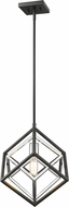Z-Lite 457MP-CH-MB Euclid Modern Chrome / Matte Black Mini Hanging Pendant Lighting