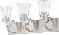 Z-Lite 461-3V-BN Halliwell Brushed Nickel 3-Light Bathroom Vanity Lighting