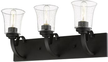 Z-Lite 461-3V-BRZ Halliwell Bronze 3-Light Bathroom Vanity Light