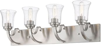 Z-Lite 461-4V-BN Halliwell Brushed Nickel 4-Light Bathroom Sconce