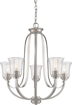 Z-Lite 461-5BN Halliwell Brushed Nickel Lighting Chandelier