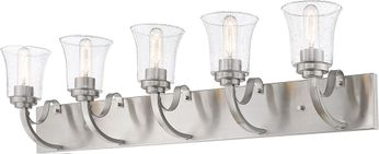 Z-Lite 461-5V-BN Halliwell Brushed Nickel 5-Light Vanity Light Fixture