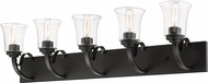 Z-Lite 461-5V-BRZ Halliwell Bronze 5-Light Vanity Lighting Fixture
