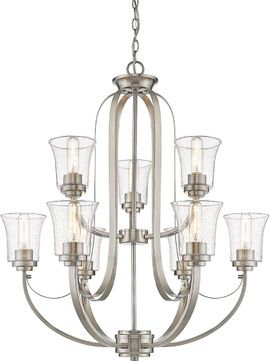 Z-Lite 461-9BN Halliwell Brushed Nickel Chandelier Light