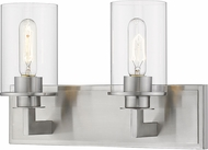 Z-Lite 462-2V-BN Savannah Modern Brushed Nickel 2-Light Bathroom Vanity Light Fixture