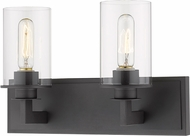 Z-Lite 462-2V-BRZ Savannah Contemporary Bronze 2-Light Bathroom Wall Sconce
