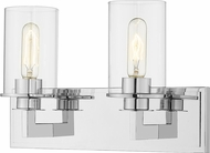 Z-Lite 462-2V-CH Savannah Modern Chrome 2-Light Bath Wall Sconce