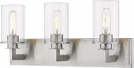Z-Lite 462-3V-BN Savannah Contemporary Brushed Nickel 3-Light Bathroom Light Sconce