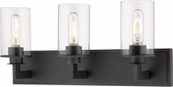 Z-Lite 462-3V-BRZ Savannah Modern Bronze 3-Light Bathroom Lighting Sconce