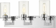 Z-Lite 462-3V-CH Savannah Contemporary Chrome 3-Light Bathroom Sconce Lighting