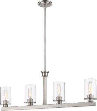 Z-Lite 462-4L-BN Savannah Modern Brushed Nickel Kitchen Island Light Fixture
