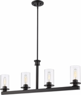 Z-Lite 462-4L-BRZ Savannah Contemporary Bronze Island Lighting