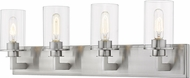 Z-Lite 462-4V-BN Savannah Modern Brushed Nickel 4-Light Bath Lighting Sconce