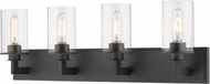 Z-Lite 462-4V-BRZ Savannah Contemporary Bronze 4-Light Bathroom Wall Light Fixture