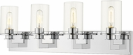 Z-Lite 462-4V-CH Savannah Modern Chrome 4-Light Bathroom Lighting