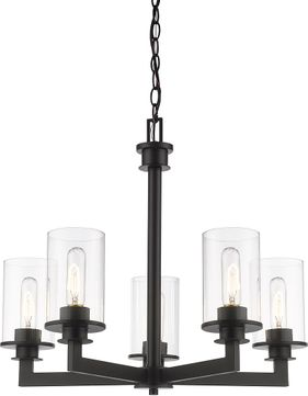 Z-Lite 462-5BRZ Savannah Modern Bronze Chandelier Light