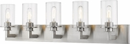 Z-Lite 462-5V-BN Savannah Contemporary Brushed Nickel 5-Light Lighting For Bathroom