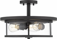 Z-Lite 462SF16-BRZ Savannah Contemporary Brushed Nickel 16  Ceiling Light Fixture
