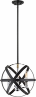 Z-Lite 463-12HBK-CH Cavallo Contemporary Hammered Black / Chrome Mini Ceiling Light Pendant