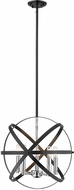 Z-Lite 463-18HBK-CH Cavallo Modern Hammered Black / Chrome 18  Drop Lighting Fixture