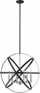 Z-Lite 463-24HBK-CH Cavallo Contemporary Hammered Black / Chrome 24  Lighting Pendant