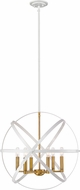 Z-Lite 463-24HWH-OBR Cavallo Contemporary Hammered White / Olde Brass 24  Hanging Lamp