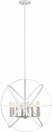 Z-Lite 463-30HWH-BN Cavallo Modern Hammered White & Brushed Nickel 30  Drop Ceiling Light Fixture