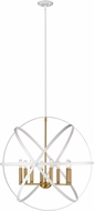 Z-Lite 463-30HWH-OBR Cavallo Modern Hammered White / Olde Brass 30  Pendant Lighting Fixture