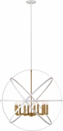 Z-Lite 463-36HWH-OBR Cavallo Contemporary Hammered White / Olde Brass 36  Pendant Hanging Light
