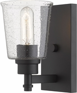 Z-Lite 464-1S-MB Bohin Contemporary Matte Black Wall Sconce Light