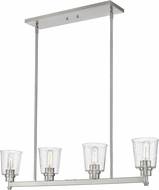 Z-Lite 464-4L-BN Bohin Modern Brushed Nickel Island Light Fixture