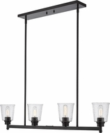 Z-Lite 464-4L-MB Bohin Contemporary Matte Black Kitchen Island Light Fixture