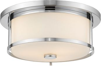 Z-Lite 465F14-CH Savannah Chrome 14  Flush Mount Ceiling Light Fixture