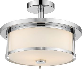Z-Lite 465SF14-CH Savannah Chrome 14  Overhead Light Fixture