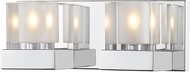 Z-Lite 467-2V-CH Fallon Chrome Halogen 2-Light Bath Lighting Fixture