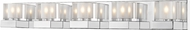 Z-Lite 467-5V-CH Fallon Chrome Halogen 5-Light Vanity Light Fixture
