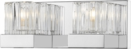 Z-Lite 468-2V-CH Fallon Chrome Halogen 2-Light Bath Wall Sconce