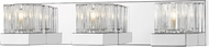 Z-Lite 468-3V-CH Fallon Chrome Halogen 3-Light Bathroom Lighting Sconce
