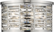 Z-Lite 469F4-CH Cronise Contemporary Chrome 16  Flush Mount Lighting Fixture