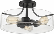 Z-Lite 471SF-MB Delaney Modern Matte Black Home Ceiling Lighting