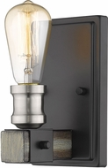 Z-Lite 472-1S-ABB Kirkland Contemporary Ashen Barnboard Wall Lighting Fixture