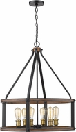 Z-Lite 472-6D-RM Kirkland Contemporary Rustic Mahogany Drop Lighting