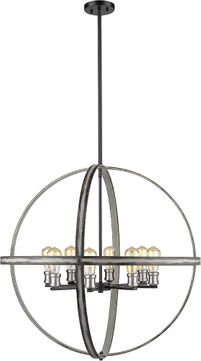 Z-Lite 472B32-ABB Kirkland Contemporary Ashen Barnboard 32  Pendant Light