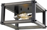 Z-Lite 472F2S-ABB Kirkland Contemporary Ashen Barnboard 12  Ceiling Lighting