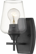 Z-Lite 473-1S-MB Joliet Matte Black Wall Light Fixture