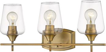 Z-Lite 473-3V-OBR Joliet Olde Brass 3-Light Vanity Lighting Fixture